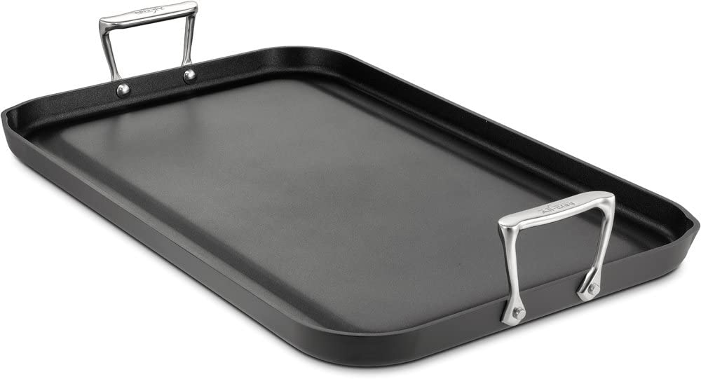 All-Clad 3020 Hard-Anodized Nonstick Double Burner Griddle