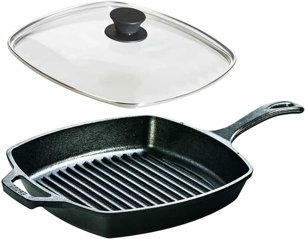 Lodge 10.5 Inch Seasoned Cast Iron Cookware Set
