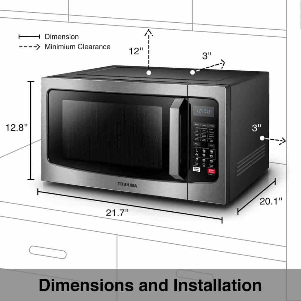 Toshiba EC042A5C-SS Countertop Microwave Oven