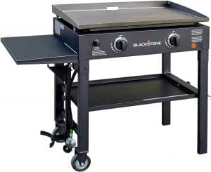 5. Blackstone 28 inch Outdoor Flat 2-burner Gas Grill