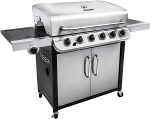 2. Char-Broil 6-Burner Cabinet Propane Gas Grill