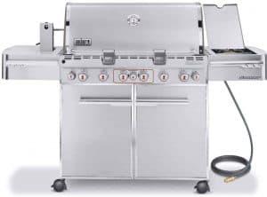 8. Weber S-670 6-Burner Natural Gas Grill
