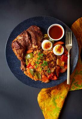 Jollof Rice with Chicken - Nigerian Jollof Rice
